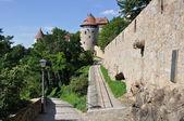 Walk near city-walls, bautzen — Stock Photo