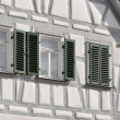 Stock Photo: White wattle house, bad wimpfen