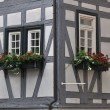 Stock Photo: Wattle house detail, bad wimpfen