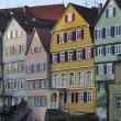 Old houses facades, tubingen — Stock Photo
