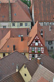 Ancient roofs, bad wimpfen — Stock Photo
