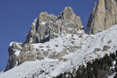 Rosengarten peak in winter, dolomites — Stock Photo