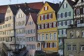 старые фасады домов, тюбинген — Стоковое фото