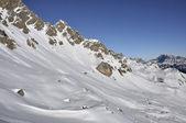 Costabella slope at san pellegrino pass — Foto Stock