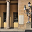 Stock Photo: Lampost at verdi opera-house, parma