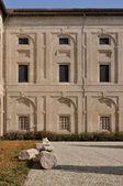 Guazzatoio courtyard detail, pilotta palace, parma — Stock Photo