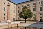 Guazzatoio courtyard view, pilotta palace, parma — Stock Photo
