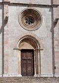 Todi portale, laterale cattedrale — Foto Stock