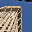 Velasca tower west side from below, milan — Stock Photo