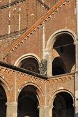 St ambrogio detail, milano — Stock Photo