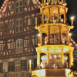 Tower stall at christmas market, esslingen - Stockfoto