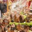 Tiny houses at christmas market, esslingen - Stockfoto