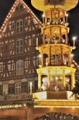 Tower stall at christmas market, esslingen — Stock Photo