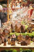 Tiny houses at christmas market, esslingen — Stock Photo