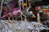 Glass bird at medieval market, esslingen — Stock Photo