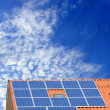 Solar panel on roof — Stock Photo