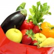 Shopping bag with veggetables — Stock Photo #6827336