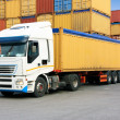 Stock Photo: Truck and containers