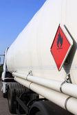 Danger transportation tanker truck — Stock Photo