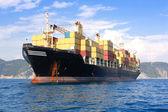 Transporte, barco de contenedores — Foto de Stock