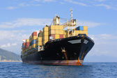 Containerschip — Stockfoto