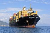 集装箱船 — 图库照片