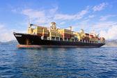 Container ship in sea — Stock Photo