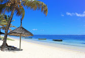 Tropical beach in mauritius island — Stock Photo