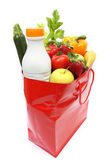 Shopping bag with groceries — Stock Photo