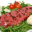Raw meat ready for barbecue — Stock Photo