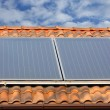 Stock Photo: Solar panel on a roof