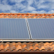 Solar panel on roof — Stock Photo #6867716