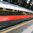 High speed train departure — Stock Photo