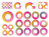 Set of Designed Spiral circles — Stock Vector