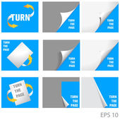 Set of icons Turn the page — Stock Vector