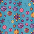 Royalty-Free Stock Vector Image: Beautiful seamless pattern with flowers and abstract elements