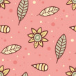 Royalty-Free Stock Vector Image: Cute pink background with flowers and leaves