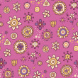 Cute pink floral pattern — Stock Vector