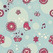 Royalty-Free Stock Vector Image: Pattern with small red birds