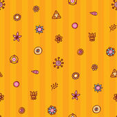 Cute seamless background with tiny flowers — Stockvector