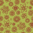 Beautiful pattern with brown elements — Stock Vector