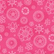 Bright magenta seamless pattern — Stock Vector