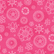 Bright magenta seamless pattern - Stock Vector