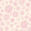 Cute pink wallpaper — Stock Vector #6858128