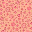 Cute seamless pattern with pink elements — Stock Vector