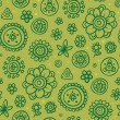Green life - seamless pattern - Stock Vector