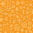 Orange harvest - seamless pattern - Stock Vector