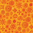 Orange sky - seamless pattern - Stock Vector