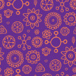 Purple pattern with orange elements - Stock Vector