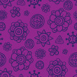 Violet fantasy - cute seamless pattern - Stock Vector